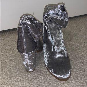 Forever 21 Velvet Sock Boots